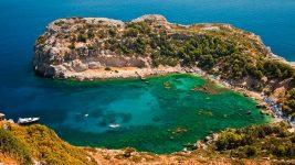 Бухта Энтони Куинна остров Родос Греция
